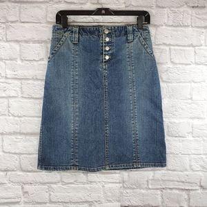 BCBGMAXAZRIA jeans skirt